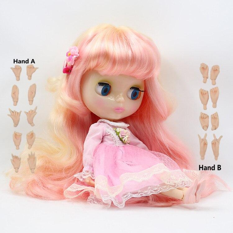 3131010 rose doré coloré Long cheveux Normal joint Blyth poupée peau blanche adapté pour bricolage changement jouet pour les filles-in Poupées from Jeux et loisirs    1