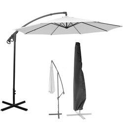 Poliéster impermeável ao ar livre banana guarda-chuva capa jardim à prova de intempéries pátio cantilever guarda-sol capa de chuva acessórios preto