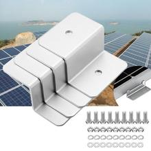 4Pcs Z style Solar Panel Mounting kits Bracket Mount Set RV Boat Off Grid