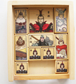 Free shipping creative educational Romance of Three Kingdoms wooden puzzle box children toy huarong road king escape game 1box