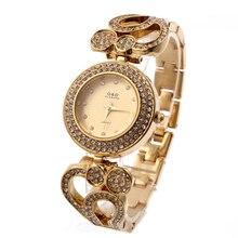 Relogio Feminino G&D Gold Women Quartz Wristwatches Stainless Steel Top Brand Luxury Bracelet Watch Women's Dress Watches Hour
