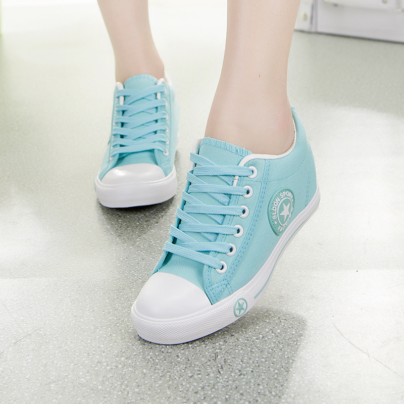 Autumn Sneakers Flat Canvas Shoes Women Casual Shoes Female Cute White Basket Stars Zapatos Mujer Trainers 5 cm Height tenis все цены