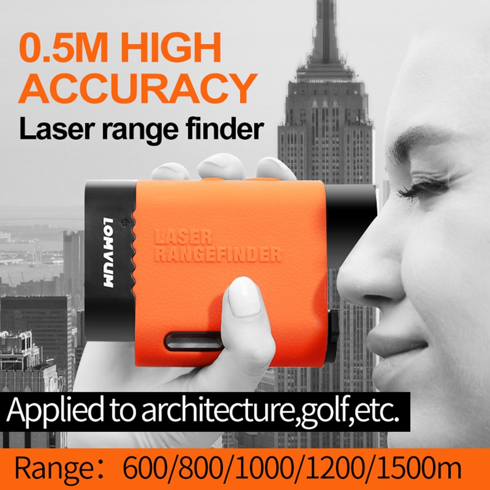 LOMVUM Multifunction Handheld Laser Rangefinder Telescope Distance Meter Measure Tape Range Finder Diastimeter 600-1500mLOMVUM Multifunction Handheld Laser Rangefinder Telescope Distance Meter Measure Tape Range Finder Diastimeter 600-1500m