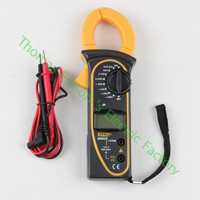 Binjiang BM528 Digital Clamp Meter Resistance DC AC Current Measuring Tool BM528 Multitester  цены