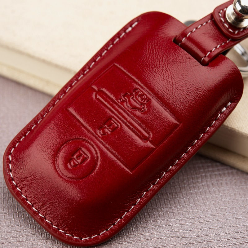 Genuine Leather Car Key Fob Cover for KIA 2018 KX5 K3 K4 K5 2014 2015 Sportage-r 2017 Sorento 2016 Key Case Holder Accessories image