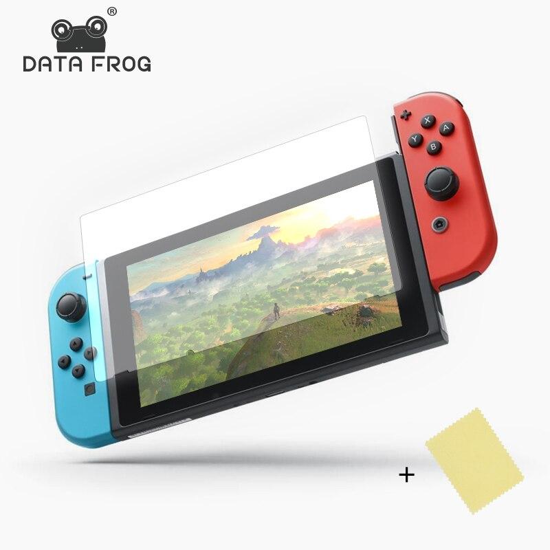 Данных лягушка 2 предмета HD ультра тонкий Защитные плёнки против царапин защитная Плёнки для Nintend консоли коммутатора для Ns Экран кожи крышк...