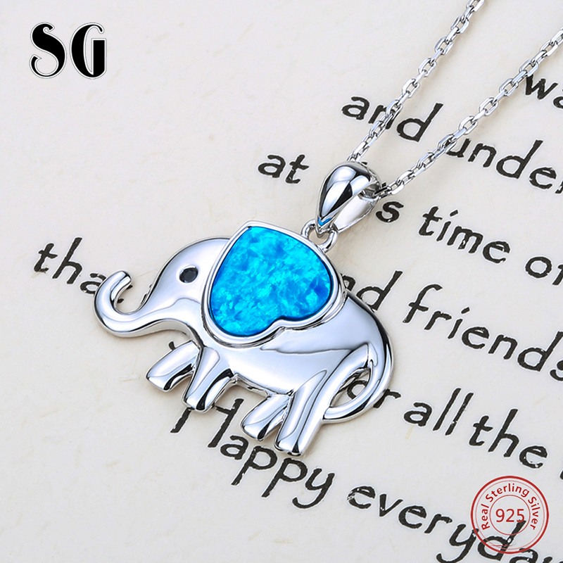 SG cute elephant growing love heart enamel charms pendant chain necklace 925 silver diy fashion jewelry for Valentine's Day gift 14k enamel heart angel pendant jewelryweb