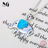 SG dễ thương elephant phát triển tình yêu trái tim men charms pendant chuỗi vòng cổ 925 bạc diy thời trang trang sức cho Ngày Valentine quà tặng
