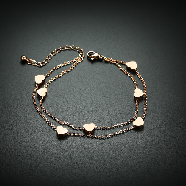 Elegant Heart Love Charm Bracelets for Women