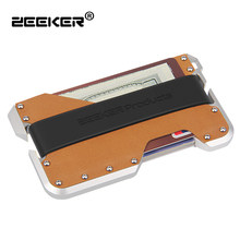 Cool card wallet promotion shop for promotional cool card wallet on zeeker new rfid men credit card wallet cool slim metal business card case china colourmoves