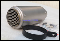 Handmade Titanium Alloy ID:51mm/54mm/57mm/61mm/63mm/65mm L:235mm Motorbike Muffler Exhaust Pipe with DB Killer Carbon Clamp
