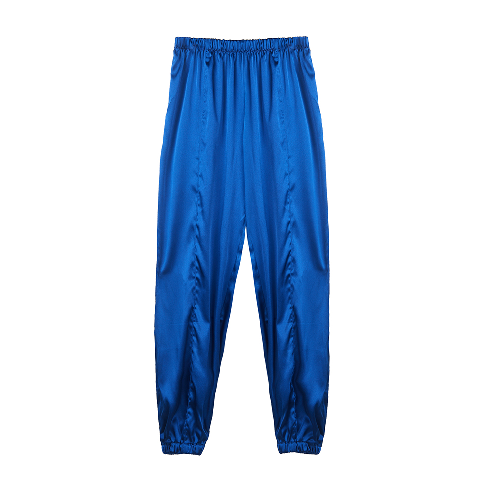 100% Silk Stretch Pants Summer Sports Pants Hip Hop Street Style Handsome Boy Fashion Full Pant Factory Direct Sale FreeShipping