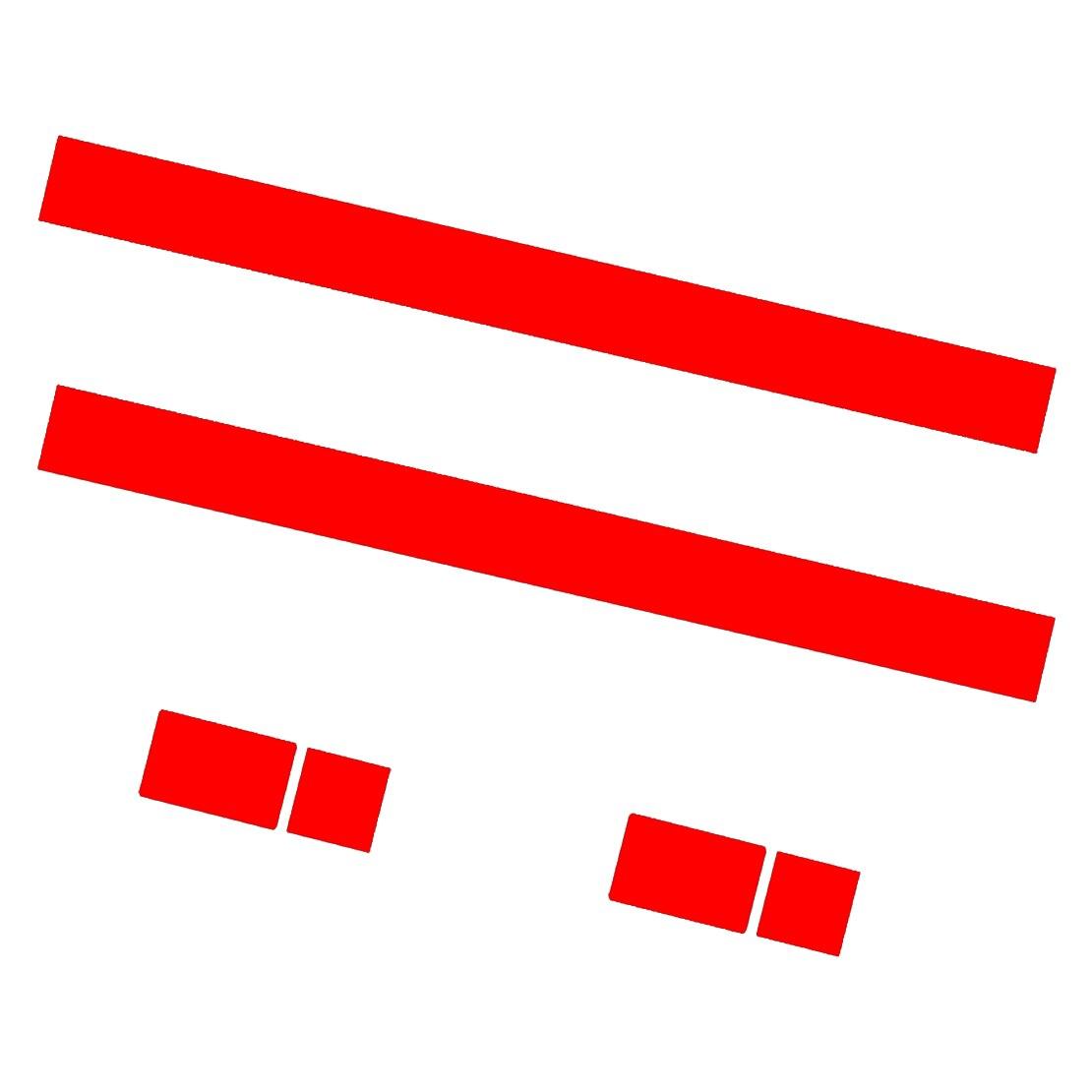 CITALL 2 шт. Автомобильный капот в полоску капот наклейка крышка виниловая наклейка подходит для MINI Cooper R50 R53 R56 R55 dWm2754536 черный/белый/красный - Название цвета: red