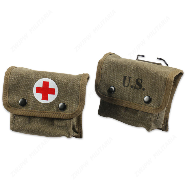 WW2 US ARMY M2 JUNGLE FIRST AID KIT POUCH OUTDOOR FIELD FIRST-AID KIT