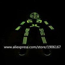 RGB свет робот костюм со светящимися вставками Костюмы танец Костюмы для бальных танцев костюм реквизит атрибуты Led растет торжественное мероприятие одежда