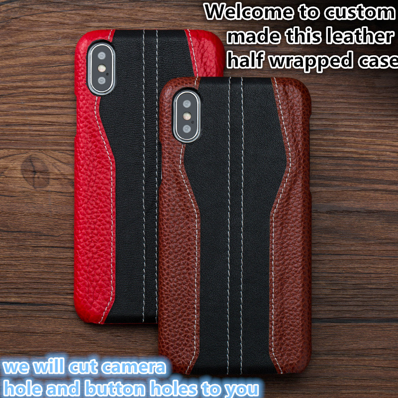 NC15 Genuine leather half wrapped case for Samsung Galaxy Note 4 phone case for Samsung Galaxy Note 4 case free shipping