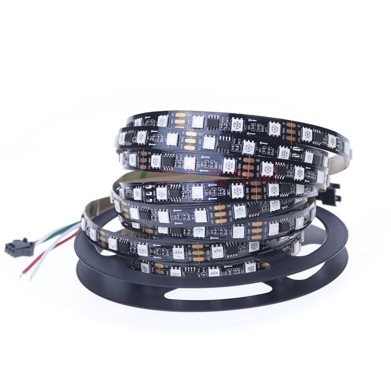 LED 5M ws2811 DC12V 30/48/60 leds/m adresseerbare 2811 ic 5050 SMD rgb strip led pixels strip externe ic,1 IC controle 3 leds ic