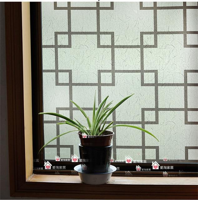 Plastic flower pattern glass film opaque glass insulation balcony bathroom window stickers affixed 45x100cm