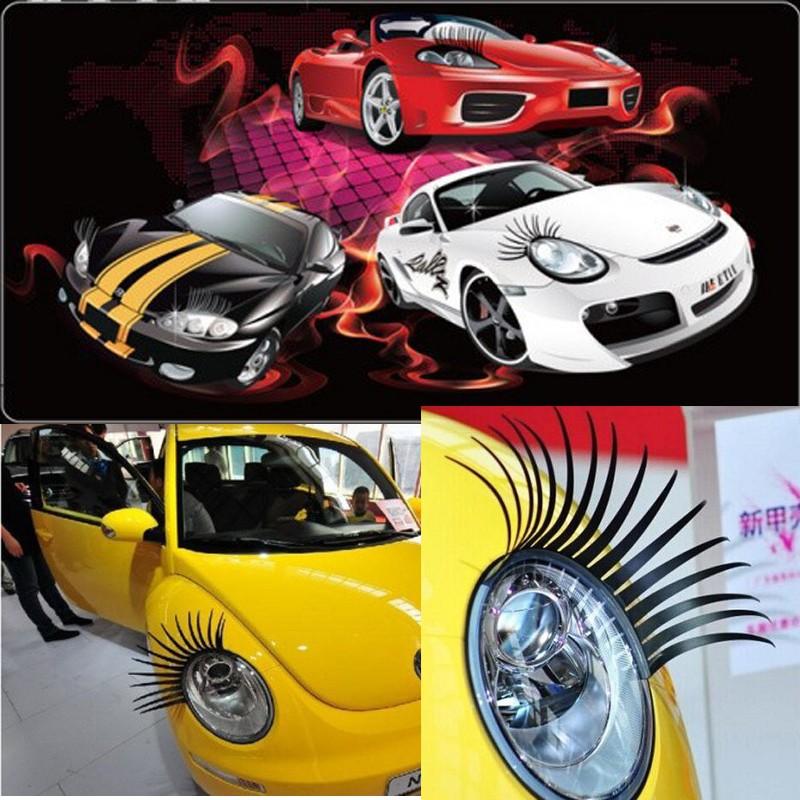 Car Styling 3d Eyelash Automotive Sticker Eyelashes Car Eye Lashes