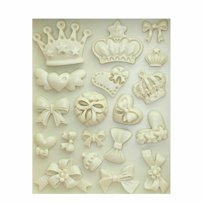 M0226 мультфильм корона и галстук-бабочка силиконовые помадки форма для торта, капкейков желе конфеты шоколадный торт декорирование выпечки инструмент формы