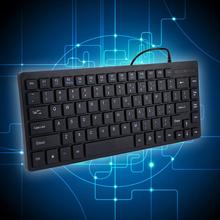 2016 NEW Arrival K3M USB Wired Mini Keyboard Black Keyboard with 84 Keys for Laptop Desktop Gaming Basic Types