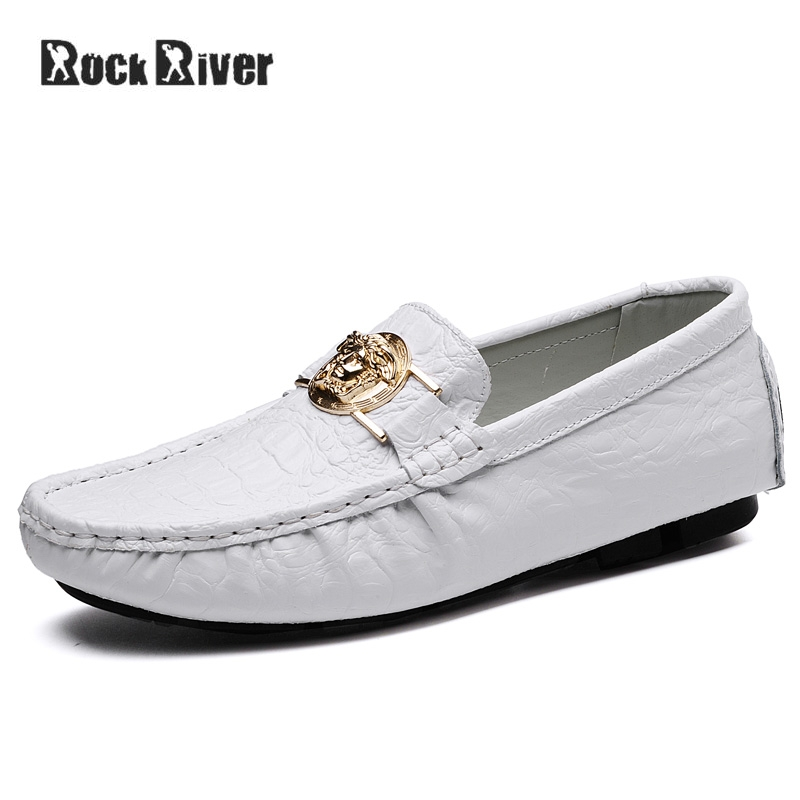 2018 Genuine Leather Men Shoes Breathable Summer Mens Shoes Casual Slip On Men Loafers Moccasins Black White Plus Size 38-47 цена