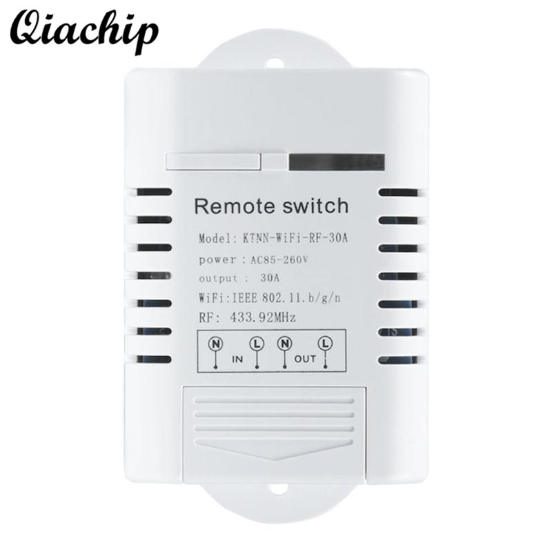 QIACHIP UK WiFi Smart Home Switch 433MHz Outlet Switch Work With Amazon Alexa Google Home Timing Remote Control Switch Socket suck uk