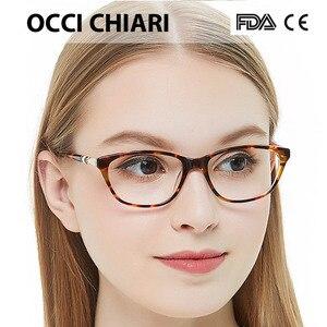 Image 2 - OCCI CHIARI באיכות גבוהה איטליה מעצב מתכת לקשט מסגרת נשים מסגרת אופטית משקפיים בעבודת יד נאי