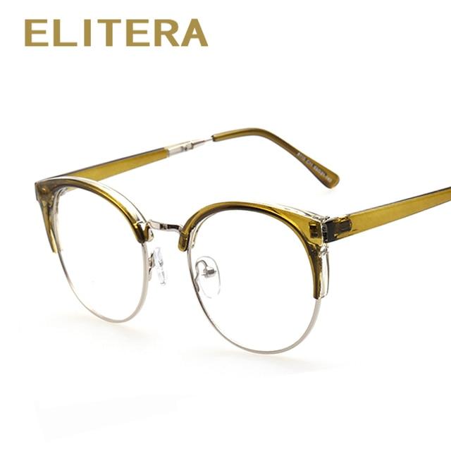 74b80718492 ELITERA Vintage Cat eye Glasses Women Brand Designer Glasses Frame Woman  Classic Eyeglasses Frames Men oculos de grau feminino