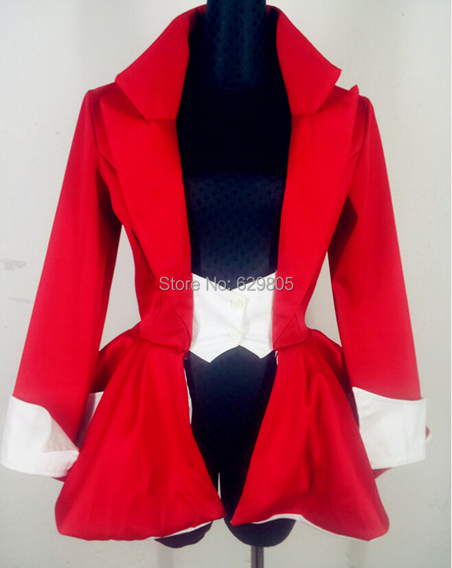 2016 New Fashion Style Red Wagging Tail Sexy Suit Costume Female Stage Wear Performance Ds Lead Dance Clothes Dj Singer