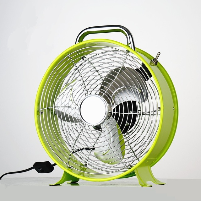 Household Small Electric Fan Cartoon Mini Electric Fan 12 Inch 25 Cm  All Metal Table