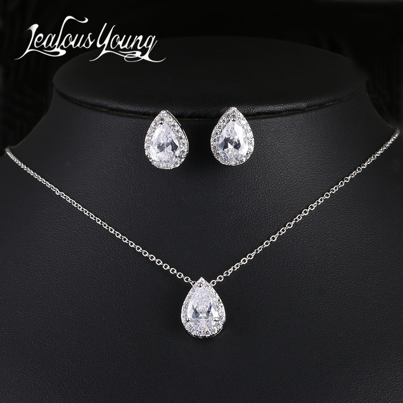 jealous young Nigerian Water Drop Bridal Jewelry Set