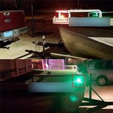 1 Pair 12V Flush Mount Marine Boat RV Side Navigation Light Red Green LED Stainless Steel Yacht Side Bow Tear Drop Lamp