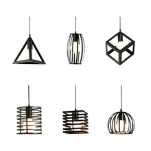 BOKT Vintage Metal Cage Pendant Light Loft Minimalist Retro Rustic Hanging Lamp Industrial Guard Ceiling Restaurant