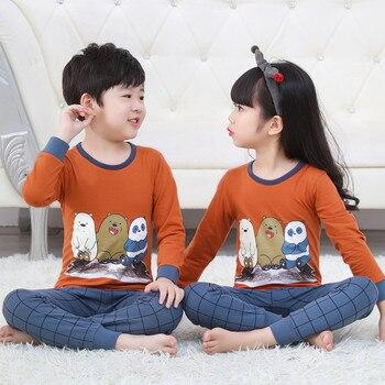 6334f72a Los niños de invierno Navidad Pijamas 2 piezas de dibujos animados ropa de dormir  niños camisón