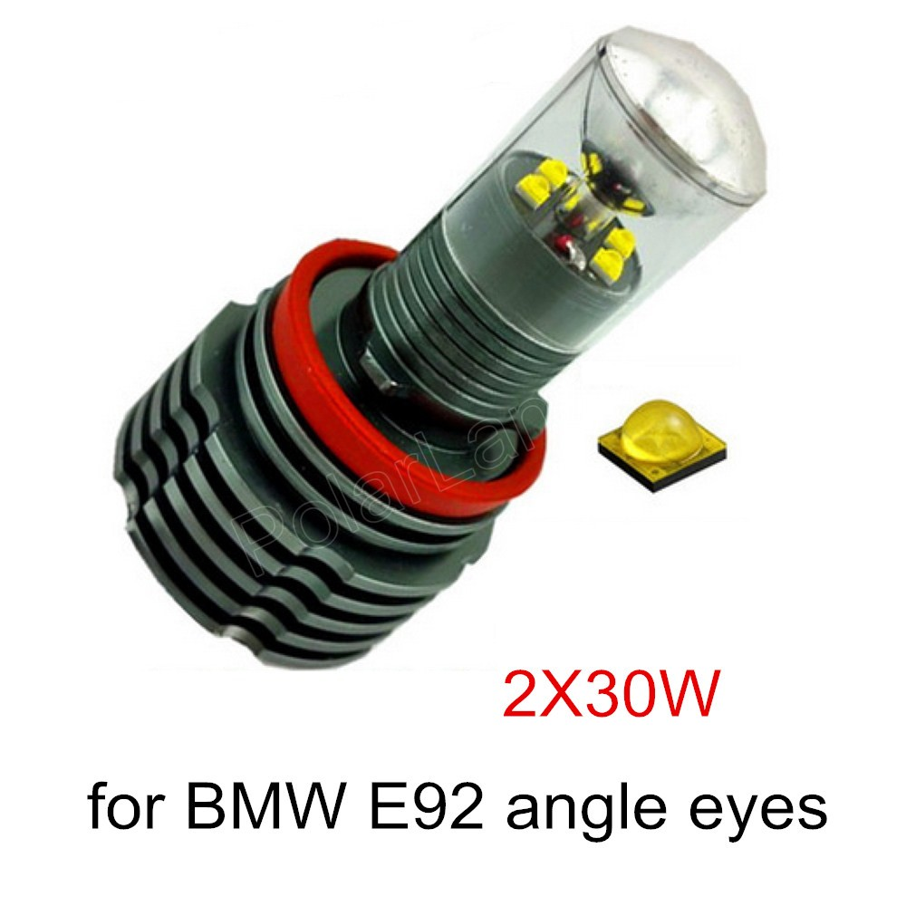 new 2x30W for BMW E92 H8 2 pieces hot sale car styling Angel Eyes LED Marker high quality