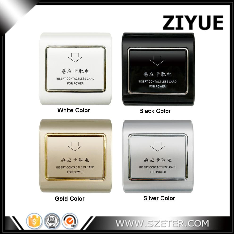 цена на Free Shipping 13.56Mhz Hotel M1 Key Card Energy Saver Switch Hotel Card Holder Switch wtih card kye
