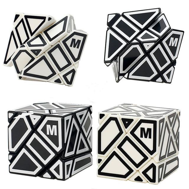 Nueva 3 Capas Cubo Fantasma M Hollow Pegatina Cubo Mágico Velocidad Kid Juguetes Educativos Cubo Mágico Rompecabezas de Juguete Juego de Regalo, 6 Colores Choosed-48
