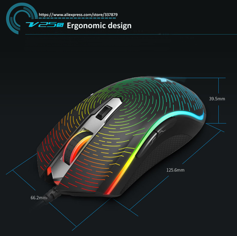 338579bfa17 Rapoo USB Wired Gaming Mouse 7000DPI 7D 5 Customizable keys LED ...