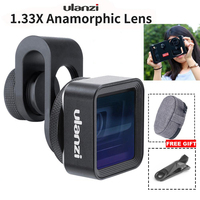 phone screen In Stock Ulanzi Anamorphic Lens For Mobile Phone 1.33X Wide Screen Video Widescreen Slr Movie Mobile Phone Lens Universal (1)