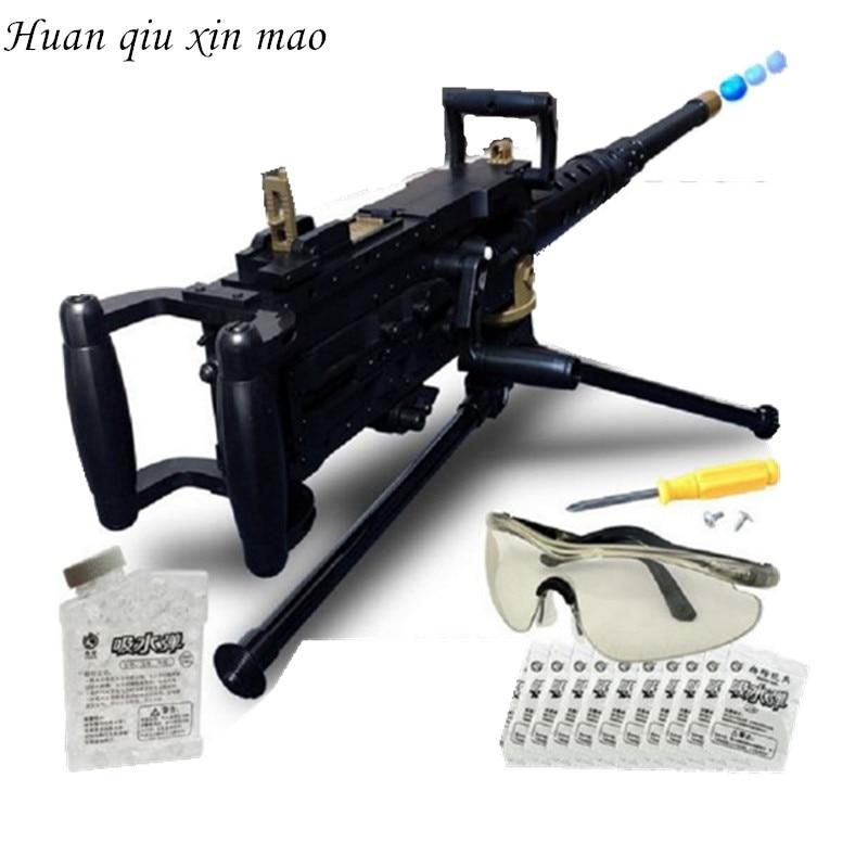 Huan qiu xin mao haute qualité la nouvelle mitrailleuse de simulation éclate de pistolet à balles d'eau modèle militaire enfants pistolets jouets