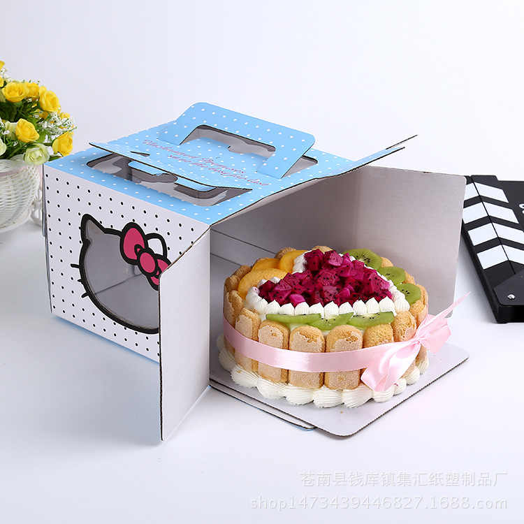 Free Shipping 200pcs/lot Cheese Mousse Cake Box Packing Boxes with mini cake Mousse box with window 100pcs/lot