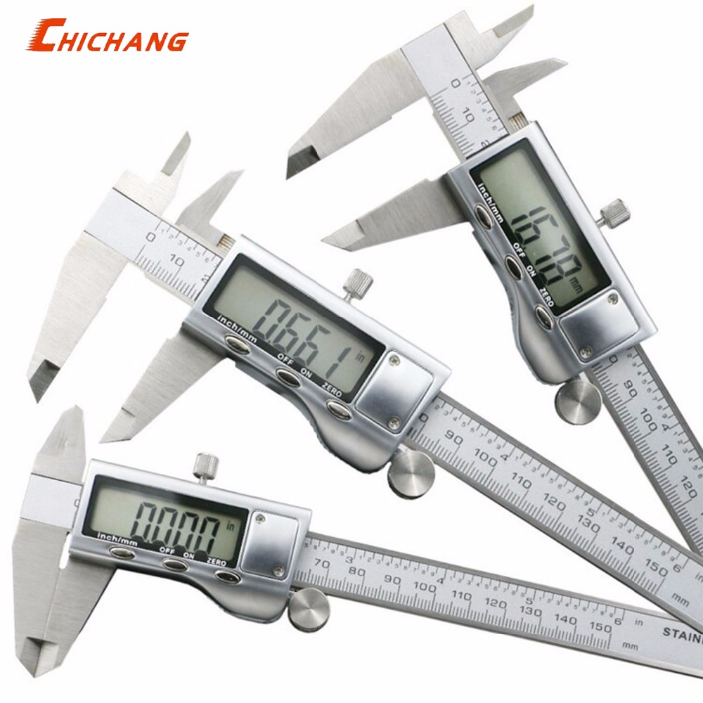 "1 Stück 0-150mm/6 ""metall Gehäuse Digital Sattel Messschieber Metall Digitale Messschieber Mikrometer"