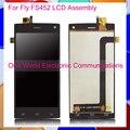 Черный Белый Для Fly FS452 Nimbus 2 FS452 Телефон ЖК-Экран Дигитайзер С Сенсорным Экраном Полной Сборки Кода Отслеживания