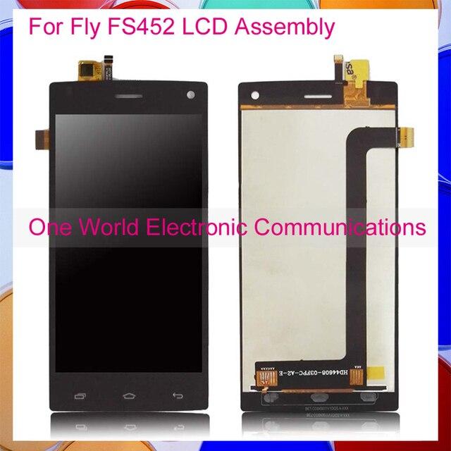 Negro Blanco Para Fly FS452 Nimbus 2 FS452 Asamblea Completa Pantalla LCD Con Digitalizador de la Pantalla Táctil Del Teléfono el Código de Seguimiento