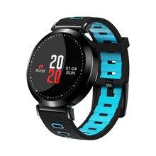 купить M10 0.95 inch color screen heart rate blood pressure oxygen IP67 waterproof sleep monitoring sports smart watch bracelet дешево