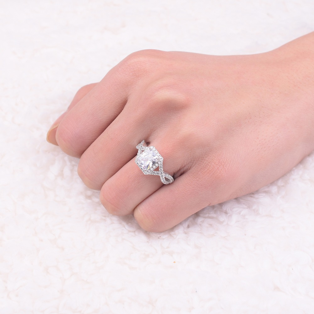 Promotion! 8$ Real Solid 100% 925 Sterling Silver Wedding Ring ...