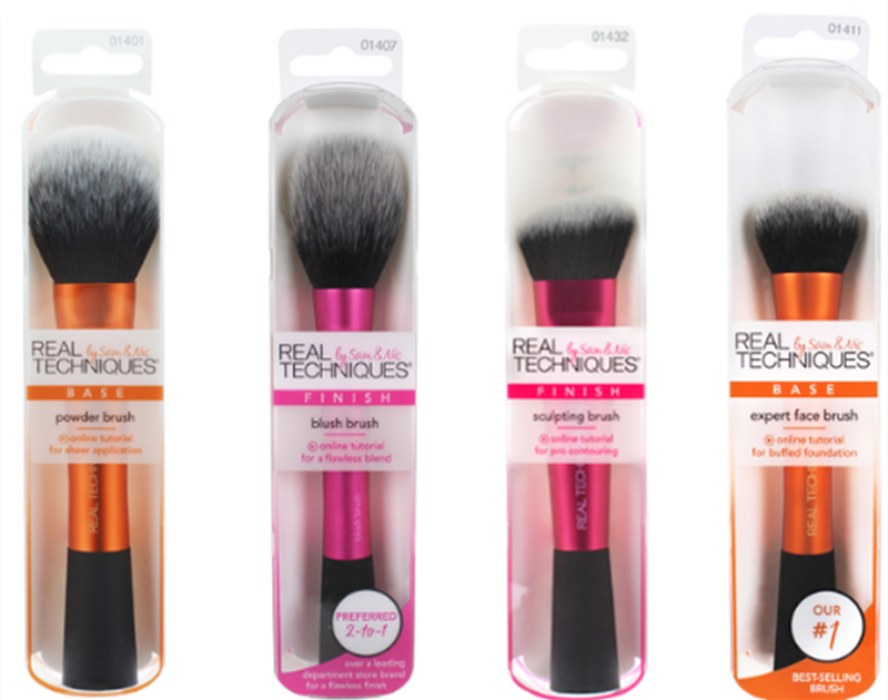 REAL TECHNIQUE Makeup Brush Set for Blending Loose Powder Foundation and Eye Shadow