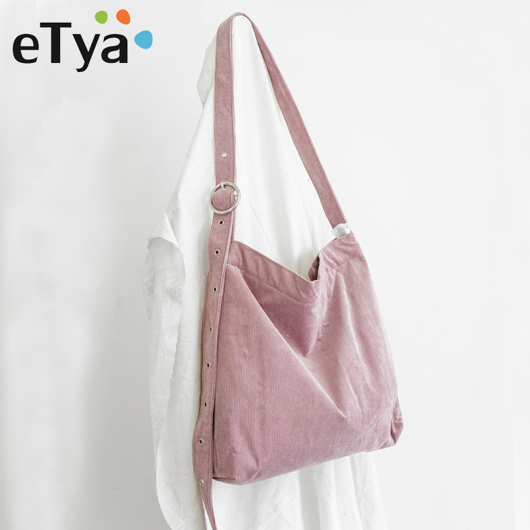 eTya New Fashion Handbag Vintage Women Canvas Shoulder Bags High Quality Lady Handbags Female Big Capacity Messenger Bags Tote 2018 new high quality women messenger bags metal hasp female shoulder bags fashion women handbags tote briefcase l8 98