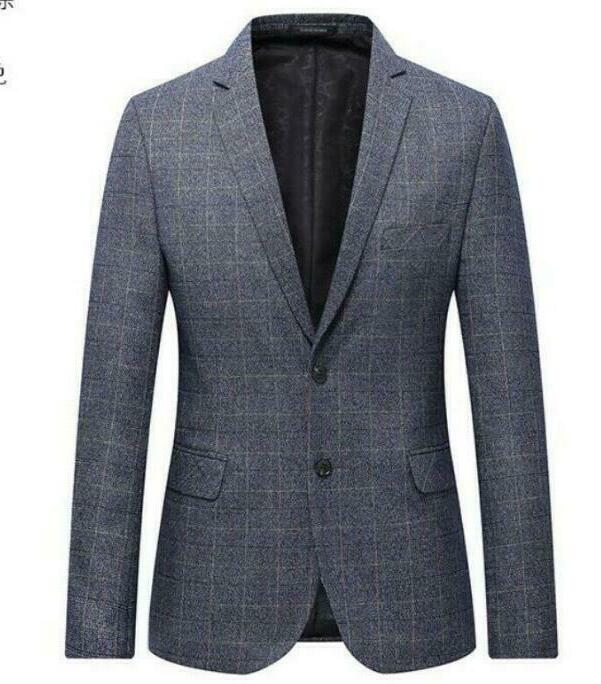 Grande taille L-6XL hommes deux boutons Slim Fit revers entreprise robe formelle Blazer veste manteaux hauts hommes costume vestes